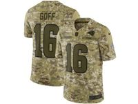Mens Nfl Los Angeles Rams #16 Jared Goff 2018 Camo Salute To Service Limited Jersey