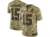 Mens Nfl Kansas City Chiefs #15 Patrick Mahomes 2018 Camo Salute To Service Limited Jersey