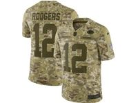Mens Nfl Green Bay Packers #12 Aaron Rodgers 2018 Camo Salute To Service Limited Jersey