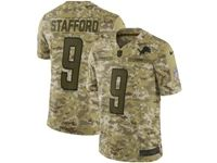 Mens Nfl Detroit Lions #9 Matthew Stafford 2018 Camo Salute To Service Limited Jersey