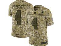 Mens Nfl Dallas Cowboys #4 Dak Prescott 2018 Camo Salute To Service Limited Jersey