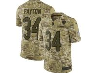 Mens Nfl Chicago Bears #34 Walter Payton 2018 Camo Salute To Service Limited Jersey