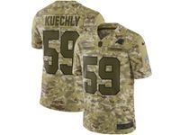 Mens Nfl Carolina Panthers #59 Luke Kuechly 2018 Camo Salute To Service Limited Jersey