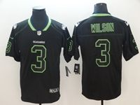 Mens Nfl Seattle Seahawks #3 Russell Wilson 2018 Lights Out Black Vapor Untouchable Limited Jersey