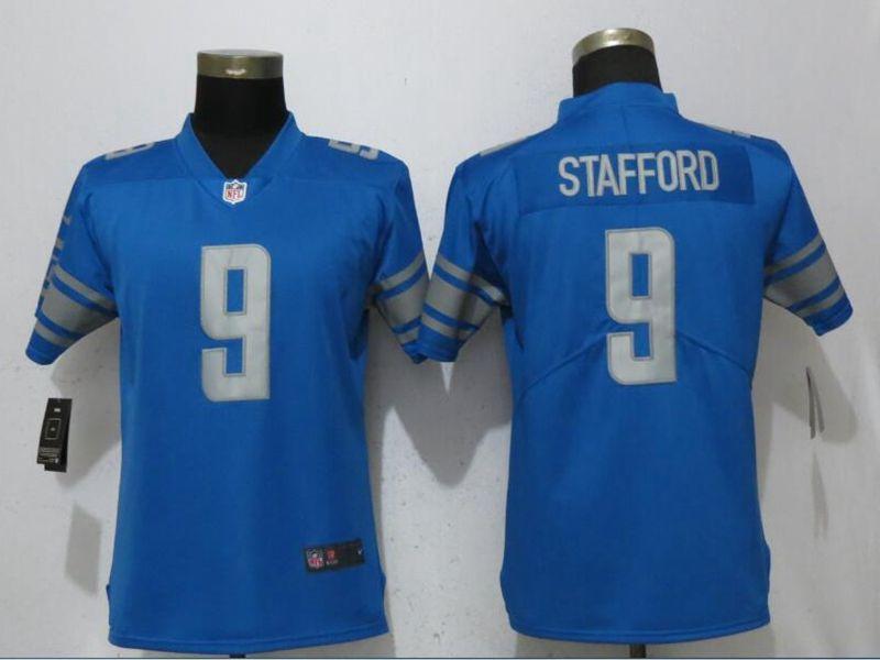Mens Women Nfl Detroit Lions Blue Vapor Untouchable Limited Current Player Jersey