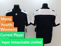 Mens Women Youth Nfl Dallas Cowboys Blue Thanksgiving Vapor Untouchable Limited Current Player Jersey