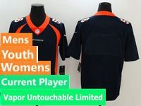 Mens Women Youth Nfl Denver Broncos Blue Vapor Untouchable Limited Current Player Jersey