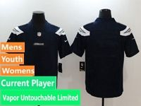 Mens Nfl Los Angeles Chargers Dark Blue Vapor Untouchable Limited Current Player Jersey