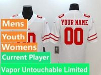 Mens Women Youth Nfl San Francisco 49ers White Vapor Untouchable Limited Current Player Jersey