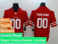Mens Women Youth Nfl San Francisco 49ers Red Vapor Untouchable Limited Current Player Jersey
