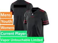 Mens Women Youth Nfl San Francisco 49ers Black Vapor Untouchable Limited Current Player Jersey