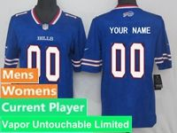 Mens Women Nfl Buffalo Bills Blue Vapor Untouchable Limited Current Player Jersey
