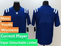 Mens Women Nfl Indianapolis Colts Blue Vapor Untouchable Limited Current Player Jersey