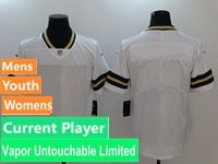 Mens Women Youth Nfl Green Bay Packers White Vapor Untouchable Limited Current Player Jersey