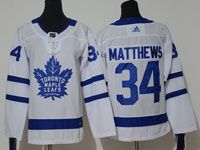 Youth Women Nhl Toronto Maple Leafs #34 Auston Matthews White Hockey Adidas Jersey