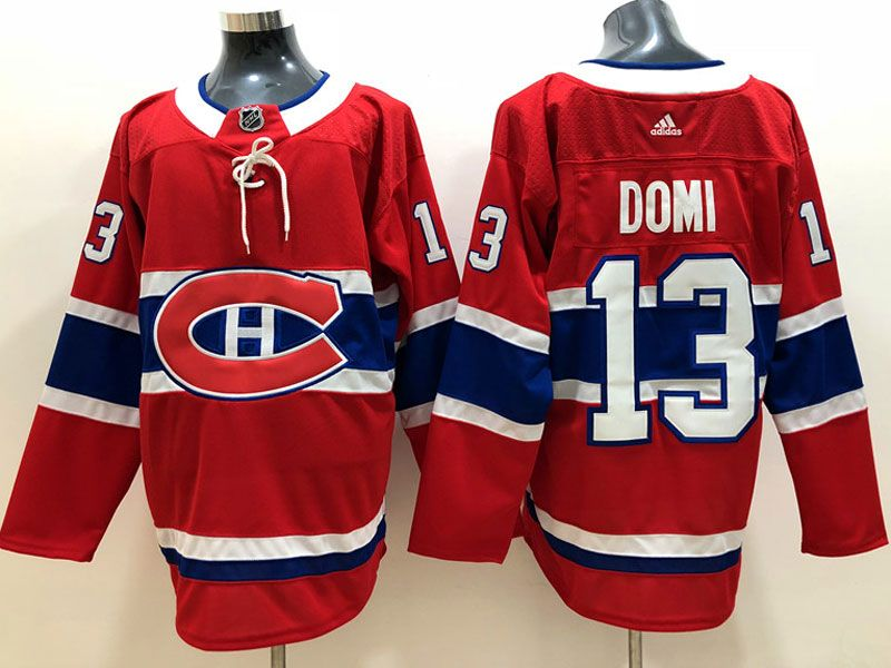 Mens Montreal Canadiens #13 Max Domi Red Home Adidas Jersey