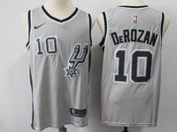 Mens Nba San Antonio Spurs Spurs #10 Demar Derozan Gray Swingman Nike Jersey