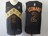 Mens 2017-18 Season Nba Toronto Raptors #2 Kawhi Leonard Black Nike City Edition Swingman Jersey