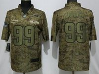 Mens Nfl Los Angeles Rams #99 Aaron Donald 2018 Camo Salute To Service Limited Jersey