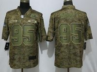 Mens Nfl Cleveland Browns #95 Myles Garrett 2018 Camo Salute To Service Limited Jersey