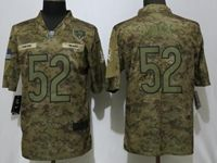 Mens Women Youth Nfl Chicago Bears #52 Khalil Mack 2018 Camo Salute To Service Limited Jersey