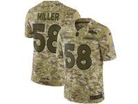 Mens Nfl Denver Broncos #58 Von Miller 2018 Camo Salute To Service Limited Jersey