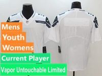 Mens Women Youth Nfl Seattle Seahawks White Vapor Untouchable Limited Current Player Jersey