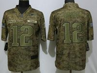 Mens Women Youth Nfl New England Patriots #12 Tom Brady 2018 Camo Salute To Service Limited Jersey