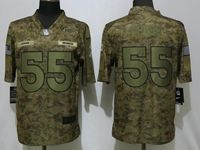 Mens Women Nfl Denver Broncos #55 Bradley Chubb 2018 Camo Salute To Service Limited Jersey