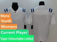 Mens Women Nfl Indianapolis Colts White Vapor Untouchable Limited Current Player Jersey