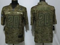 Mens Women Nfl Detroit Lions #20 Barry Sanders 2018 Camo Salute To Service Limited Jersey