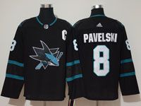Mens Adidas Nhl San Jose Sharks #8 Joe Pavelski  Alternate Black Jersey