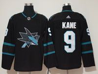 Mens Adidas Nhl San Jose Sharks  #9 Evander Kane Alternate Black Jersey