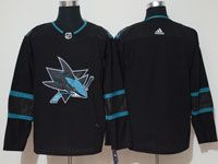 Mens Adidas Nhl San Jose Sharks Blank Alternate Black Jersey