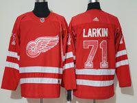 Mens Nhl Washington Capitals #71 Larkin Red Drift Fashion Home Adidas Jersey