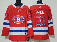 Mens Montreal Canadiens #31 Carey Price Drift Fashion Home Red Adidas Jersey
