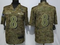 Mens Nfl Baltimore Ravens #8 Lamar Jackson 2018 Camo Salute To Service Limited Jersey