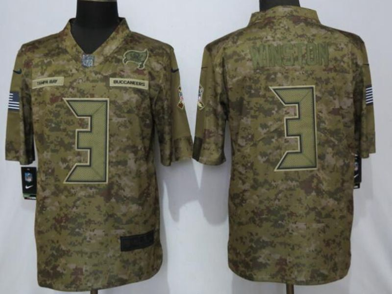 Mens Nfl Tampa Bay Buccaneers #3 Jameis Winston 2018 Camo Salute To Service Limited Jersey