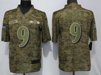 Mens Nfl Baltimore Ravens #9 Justin Tucker 2018 Camo Salute To Service Limited Jersey