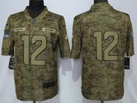 Mens Women Nfl Seattle Seahawks #12 Fan 2018 Camo Salute To Service Limited Jersey
