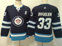 Women Youth Adidas Winnipeg Jets #33 Dustin Byfuglien Blue Home Jersey