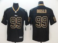 Mens Nfl Los Angeles Rams #99 Aaron Donald 2018 Lights Out Black Vapor Untouchable Limited Jersey