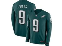 Mens Womens Nfl Philadelphia Eagles #9 Nick Foles Green Nike Therma Long Sleeve Jersey