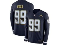 Mens Womens Nfl San Diego Chargers #99 Joey Bosa Blue Nike Therma Long Sleeve Jersey
