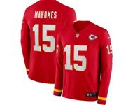Mens Womens Nfl Kansas City Chiefs #15 Patrick Mahomes Red Nike Therma Long Sleeve Jersey
