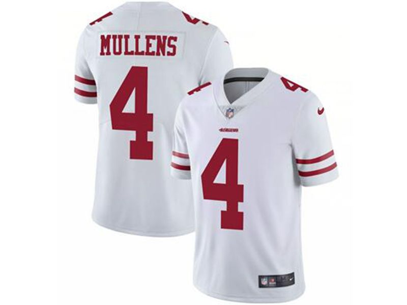 Mens Nfl San Francisco 49ers #4 Nick Mullens White Vapor Untouchable Limited Jersey