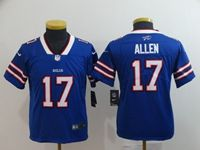 Youth Nfl Buffalo Bills #17 Josh Allen Blue Vapor Untouchable Limited Player Jersey