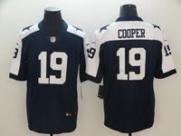 Mens Nfl Dallas Cowboys #19 Amari Cooper Blue Thanksgiving Vapor Untouchable Limited Jersey
