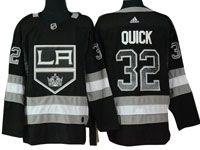 Mens Nhl Los Angeles Kings #32 Jonathan Quick Black Drift Fashion Home Adidas Jersey
