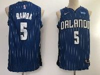 New Mens Nba Orlando Magic #5 Mohamed Bamba Blue Stripe Swingman Jersey